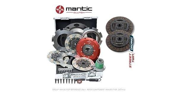 Mantic Track - Kit de embrague de alta calidad - Mantic aluminio Billet cubierta de montaje - doble platos de embrague orgánicos de liberación de ...