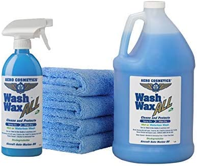 Wet or Waterless Car Wash Wax Kit 144 Ounces