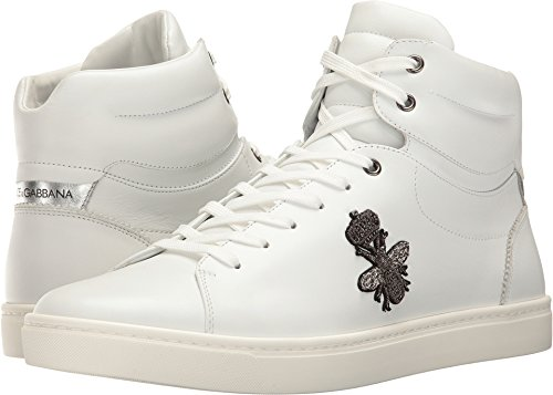 Dolce & Gabbana  Men's London Bee Applique High Top White 43 (US 10) - And Dolce London Gabbana Shop