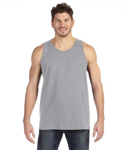 Anvil Mens 100% Ring Spun Cotton Tank Top, XL, Hthr Grey (Top Tank Anvil Mens)