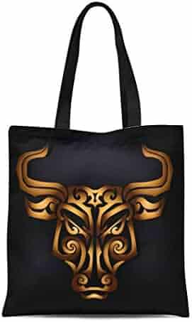 bed2a8588 Semtomn Canvas Tote Bag Shoulder Bags Scythian Golden Bull Head Black Maori  Face Tattoo Mask Women's