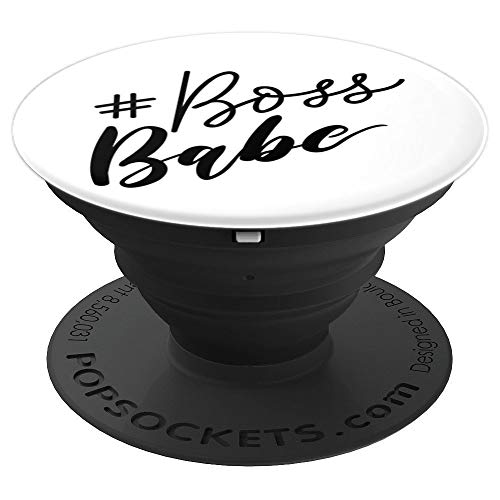 (Hashtag Boss Babe Quote PopSocket - PopSockets Grip and Stand for Phones and Tablets)