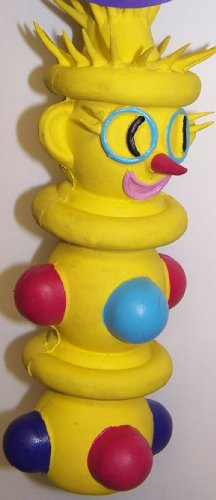 Vo-Toys Latex Accordian Clown Dog Toy Assorted Colors, My Pet Supplies