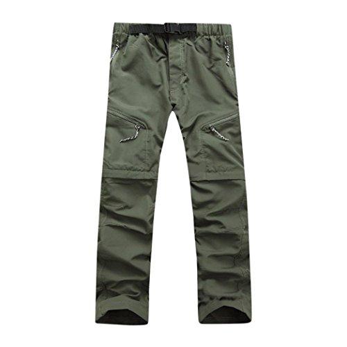 Men Pants Daoroka Men's Summer Detachable Waterproof Casual Quick Dry Outdoor Comfy 2018 Fashion Sport Sweatpants Trousers (2XL, Green) ()