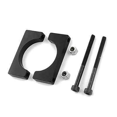 SODIAL(R) 8 Pcs 25mm Black Aluminum Clamp for Carbon Fiber Tube RC Hexrcopter