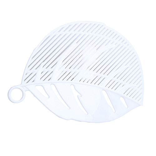 DHmart 1PC Leaf Shape Durable Clean Rice Wash Sieve Beans Peas Cleaning Gadget Kitchen Clips Tools Supplies Accessories 4 Colors ()