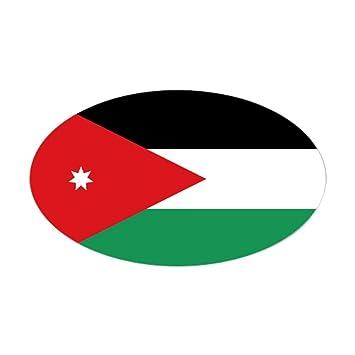 Cafepress flag of jordan oval bumper sticker euro oval car decal