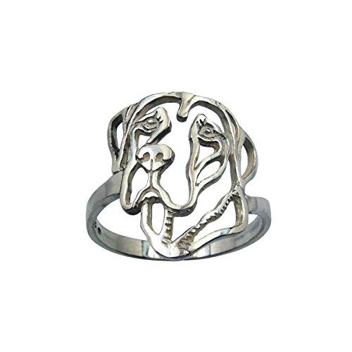 H&H jewellery Dogue allemand bague d'argent - 62; Bigouterie d'argent - Bague (titre 925/1000)