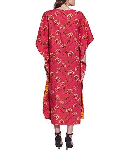Longue robe de soirée Tunique décontractée Coton Kaftan imprimé pour la femme indienne