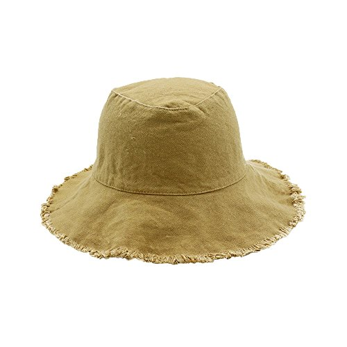 Ladies Fringed Summer Sun Women Cowboy Foldable Protection Hat UV Khaki for Hat Bucket Hats qxftwZT0gn