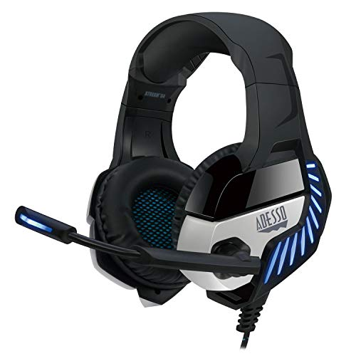 Adesso Xtream G4-7.1 Surround-Sound Gaming Headset with Noise Cancelling Microphone and LED Lighting for PC, PS4, Xbox…