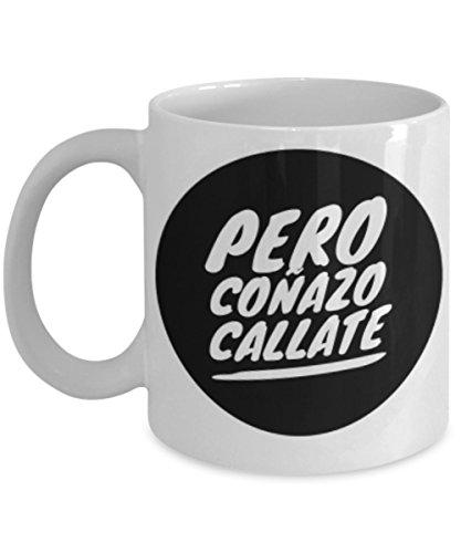Pero Callate | AFIRMACIONES Taza cafe, tazas para caf divertidas, tazas de caf personalizadas, taza de caf inspiradoras, taza grande de cafe con mensajes positivos | Cafe Tazas exclusivas