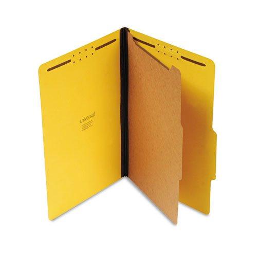 (Four-Section Pressboard Classification Folder, Legal Size, Yellow, 10/Bx)