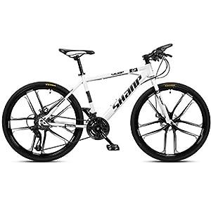 41hKjZ6q3FL. SS300 JXH 26 Bici Pollici di Montagna, Doppio Freno a Disco per Mountain Bike Hardtail Uomo, Bicicletta Sedile Regolabile, ad…
