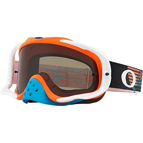 Oakley Crowbar MX Adult Off-Road Motorcycle Goggles - Circuit Orange Blue/Dark ()