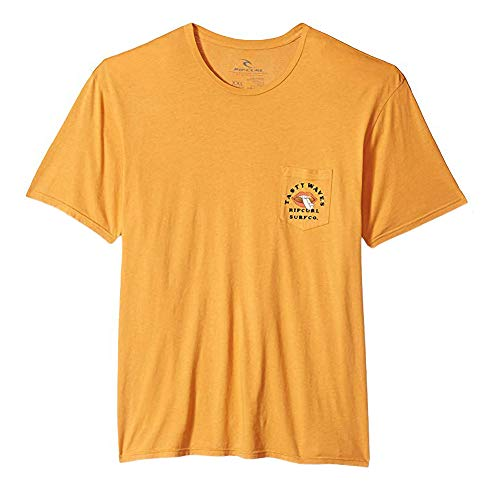 Rip Curl Men's Tasty Waves Heritage Pocket Tee, Gold, L (Tasty Waves)