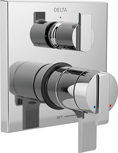 Delta Faucet Ara 17 Series Dual-Function Shower Handle Valve Trim Kit with 3-Setting Integrated Diverter, Chrome T27867 (Valve Not Included) ()