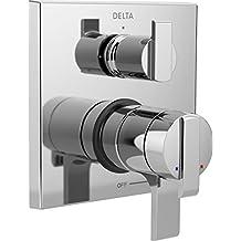 Delta Faucet T27867 Ara Angular Modern Monitor 17 Series Valve Trim with 3-Setting Integrated Diverter, Chrome