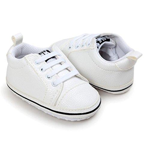 Igemy 1 Paar Baby Mädchen Jungen Letter Schuhe Sneaker Anti-Rutsch Schuhe Weiß