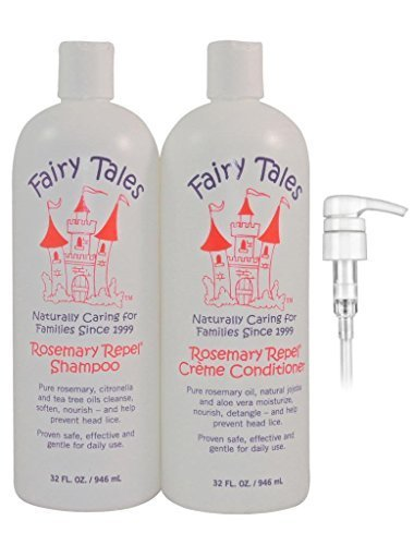Fairy Tales Rosemary Repel Lice Prevention Shampoo & Conditioner Combo, 32 Ounce | Refill Bottles with 2 Pumps by Fairy Tales