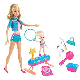 Barbie I Can Be: Gymnastics Coach Doll Play Set