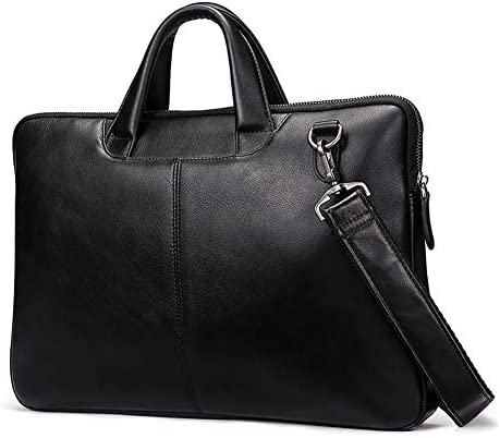 ポータブルレザーブリーフケースバッグ、メンズシングルショルダーバッグビジネスハンドバッグファッションコンピュータバッグ斜めクロスバッ
