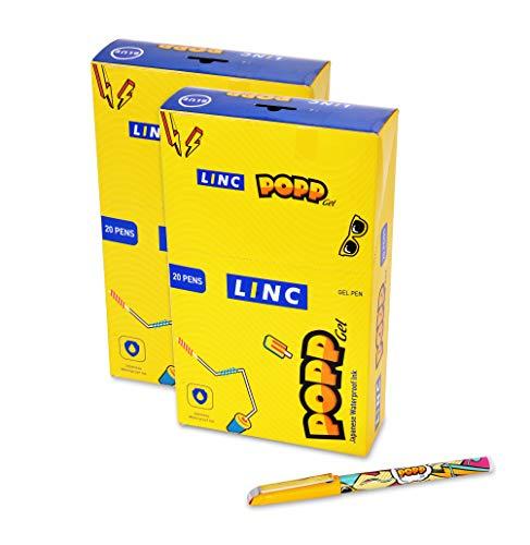 Linc Popp Gel Pen - Pack of 40 (Blue)