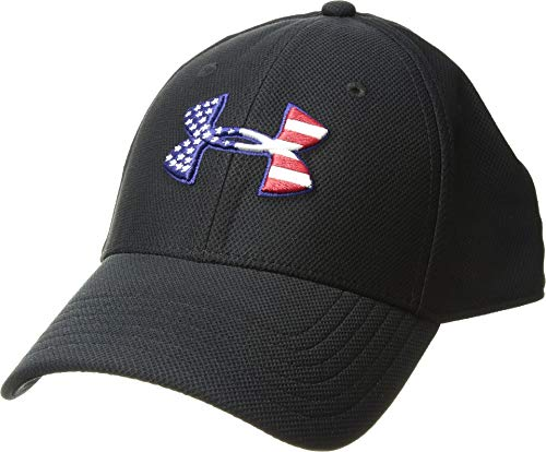 Under Armour Mens Freedom Blitzing Cap, Black (001)/Red, Large/X-Large (Under Armour Hats For Men)