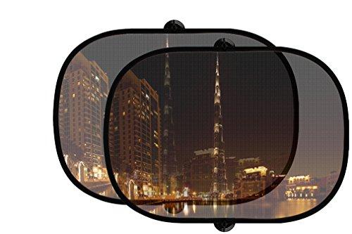 Dubai Night Style 1 2Pcs Foldable Auto Window Sunshade - Shades Dubai