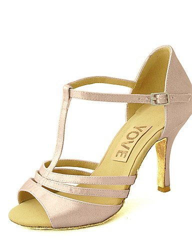 ShangYi Latin Customizable Women's Sandals Satin Dance Shoes (More Colors) nude sLBSTIt