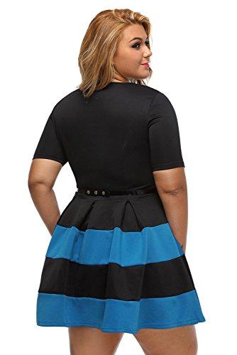 Abbigliamento amp; nbsp;eu Da Forti Vestito Uk Sera Taglie Blu Nero Xxxl Casual Taglia Skater Royal Donna Nuovo 46 20 XPgqP