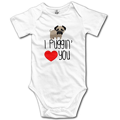 Funny Pug Love Dog Baby Onesie Cute Baby Clothes -