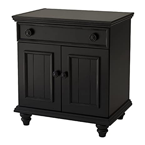 Salem House Country Cottage 1 Night Stand Drawer 2 Door, Ebony Pictures Gallery