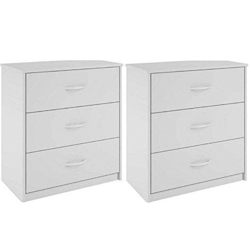 White 3 Drawer Dresser - 8