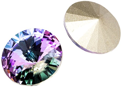 Swarovski - Create Your Style 14mm Vitrail Light Rivoli 3 packages of 2 Piece (6 Total Crystals)