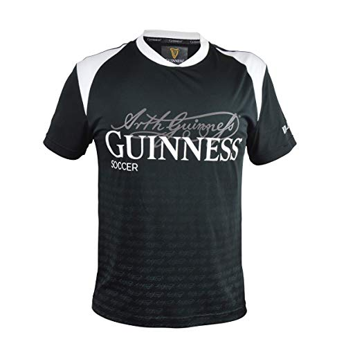 Black and White Sublimated Soccer Jersey with Arthur Guinness Signature Sublimated Print (X-Large) ()