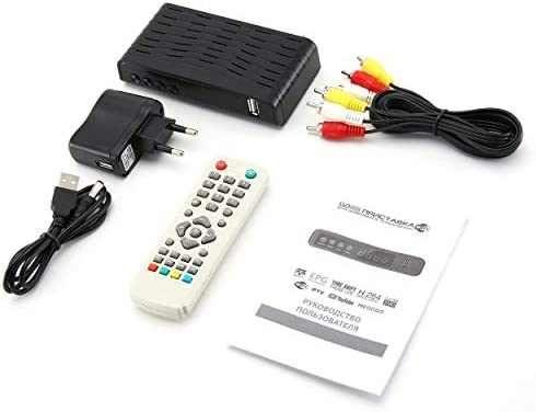 Lorenlli Decodificador WL55 HD DVB-T2 HD Receptor de TV Top Box Reproductor Multimedia Smart TV Set-Top Box: Amazon.es: Electrónica