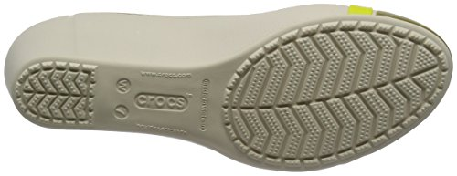 Crocs Womens Cap Toe Wedge Stucco / Olive YucyKt