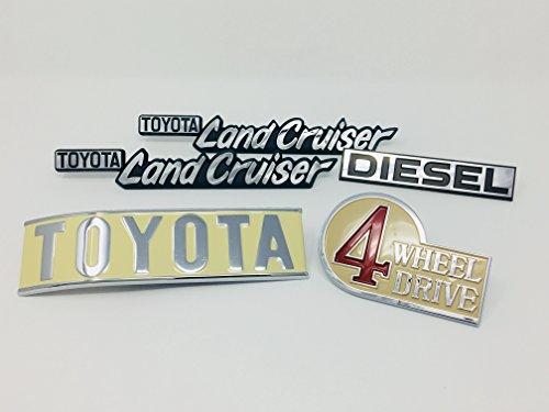 Toyota Genuine Land Cruiser FJ40 BJ40 40 Series Emblem Plate Set 1969-1986 OEM Left with Diesel Emblem