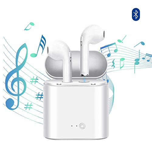 Bluetooth Headphones Wireless Headphone Mini in-Ear Headsets Sports Earphone with 2 True Wireless Earbuds and Charging Case Compatible with Smartphone and More