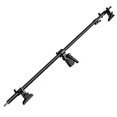 Neewer Studio Video Reflector Holder Arm - 39.7 inches/101 centimeters Retractable Telescopic Crossbar with 2 Pieces Clamps for Light Stand, Reflectors, Backdrops for Product Portrait Photography by Neewer