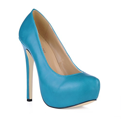 The spring atmosphere Europe increased water black one blue green high-heel shoes Pink KhHVs92Hm