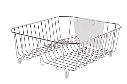 Rubbermaid 6008ARCHROM Chrome Twin Sink Dish Drainer ()