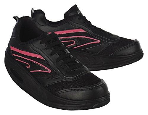 WIN DIRECT SL , Damen Laufschuhe Black and pink