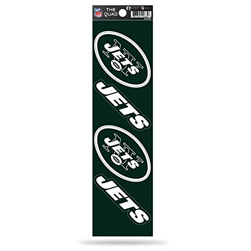 Rico Industries NFL New York Jets Die Cut 4-Piece The Quad Sticker Sheet