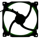 Phanteks 1200RPM 140mm Case Fan with ON/Off Switch 400mm Extension Cable Retail Cooling PH-F140SP_BK_GLED Green