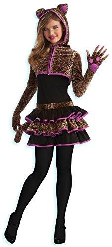 Leopard Tween Costume Brown Tween Small