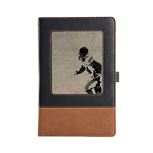 Cover Pages Made of Personalized Leather Sports Record a Good Life Leather Notebook 8.6 6.1 Inches, A5