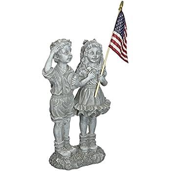 Design Toscano Patriotic Flag Children Statue