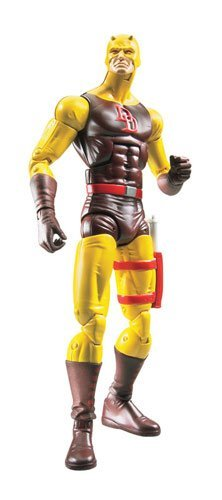 Marvel Legends Exclusive Nemesis Build-A-Figure Wave Action Figure Daredevil (Yellow and Brown Suit)